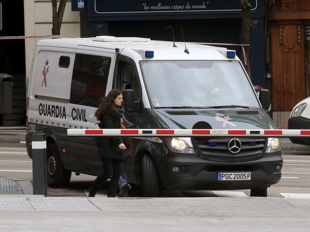 Mario Conde ha sido trasladado en un furgón de la Guardia Civil