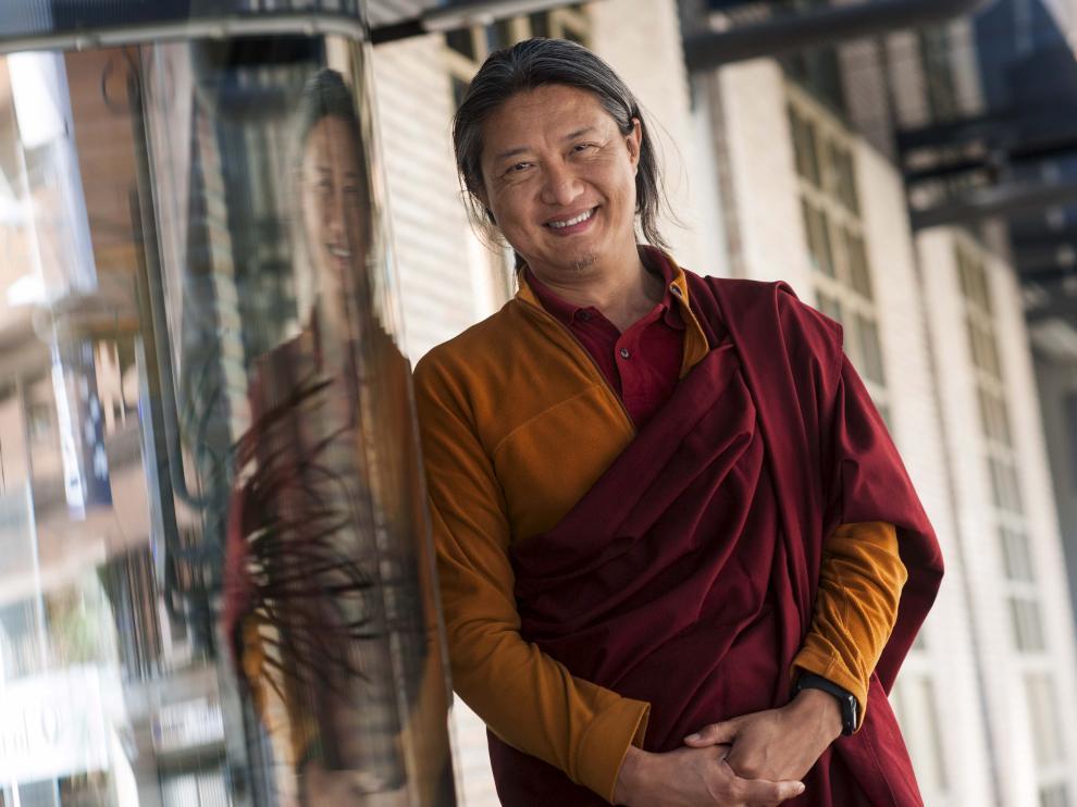El maestro budista Jigme Rinpoche, durante su visita a Zaragoza.