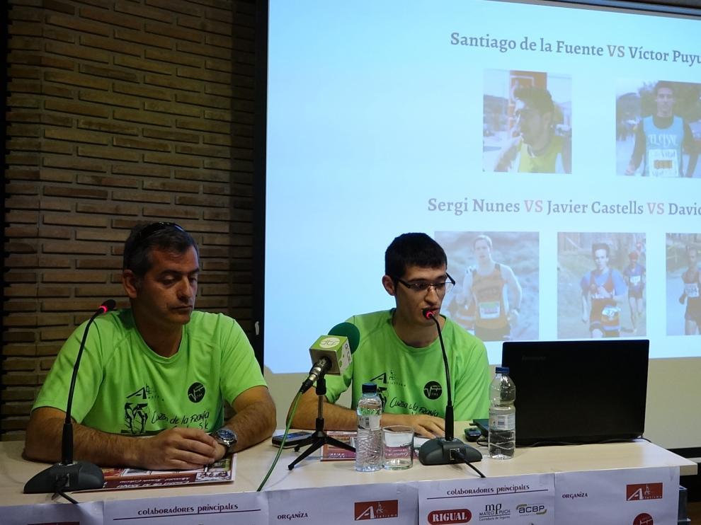 Imagen de la presentación de la carrera organizada por el Club Atletismo Fraga-Bajo Cinca.