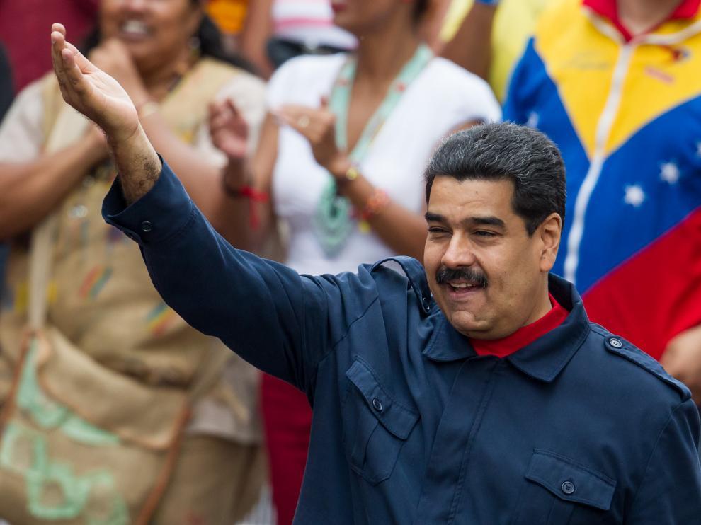Maduro anunció las nuevas medidas en una multitudinaria manifestación
