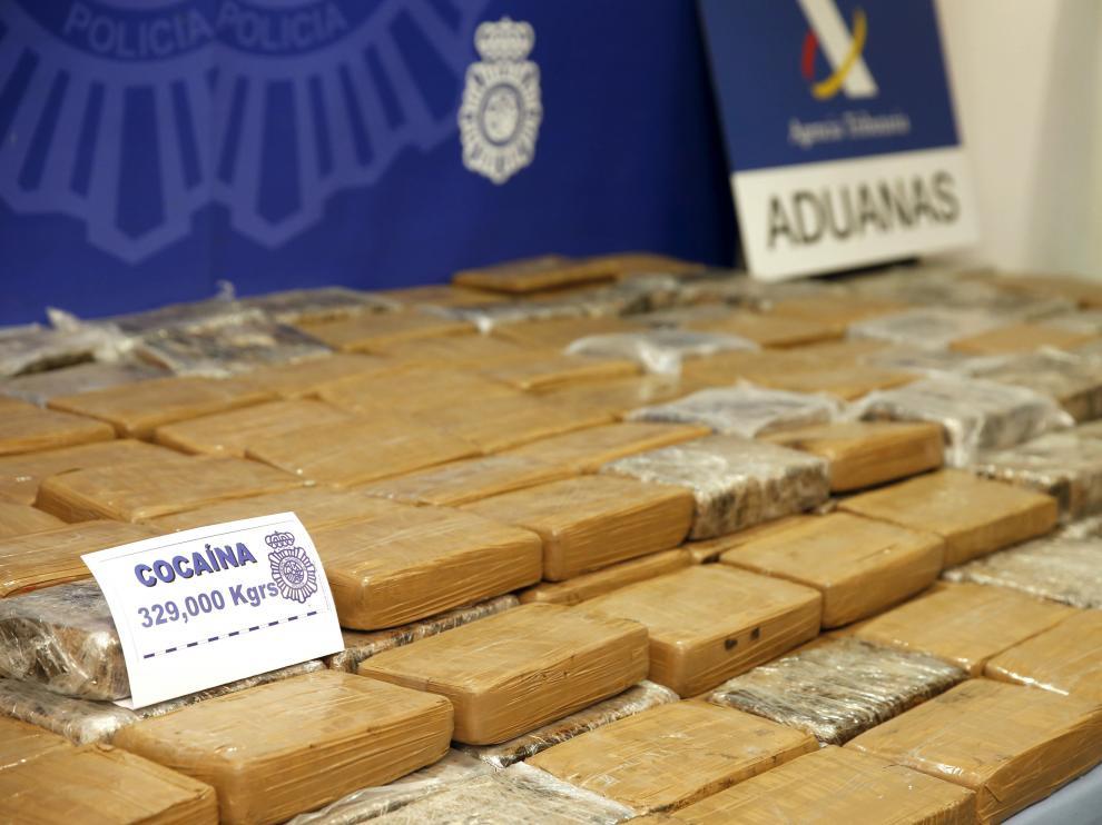 Cocaína incautada en la operación.