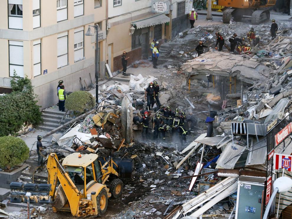 Derrumbe de un edificio en Tenerife.