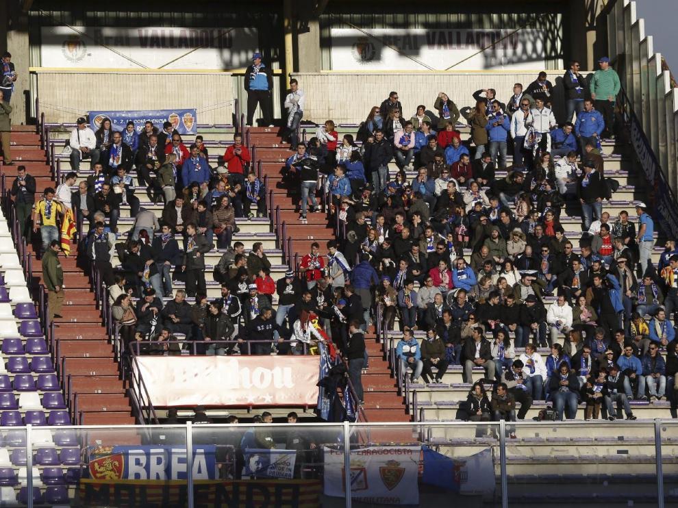 La afición zaragocista se desplazó hasta Valladolid para vivir in situ el último triunfo del Real Zaragoza.