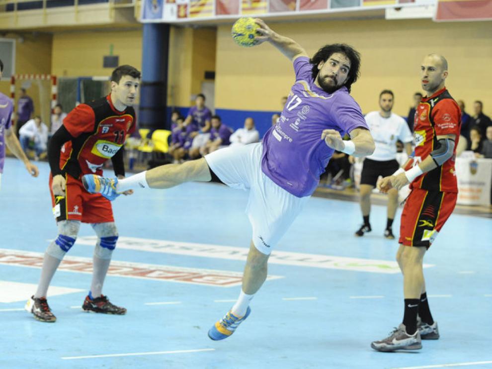 Una imagen del partido entre el Guadalajara y el Bada Huesca