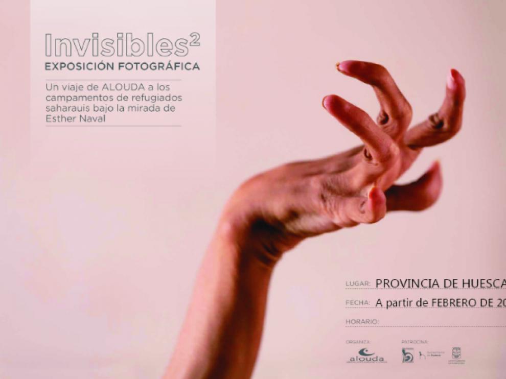 Cartel de la exposición fotográfica de Esther Naval sobre refugiados saharauis.