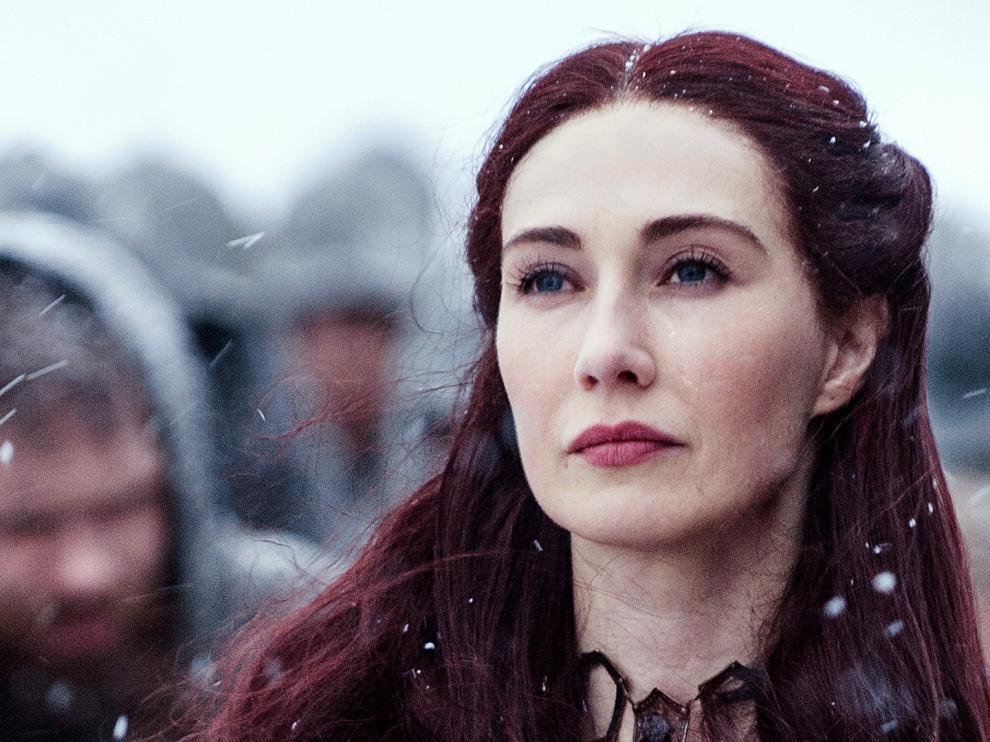Van Houten interpreta el papel de Melisandre en Juego de Tronos