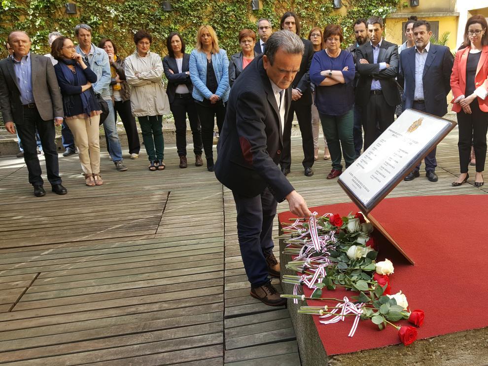 La Diputación de Zaragoza ha celebrado un acto institucional para inaugurar el memorial.