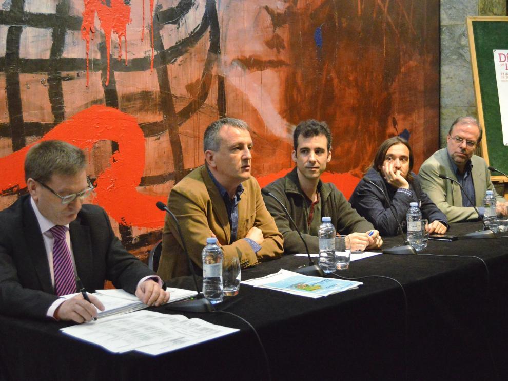 Rueda de prensa de la presentación de los actos del Día del Libro de Zaragoza