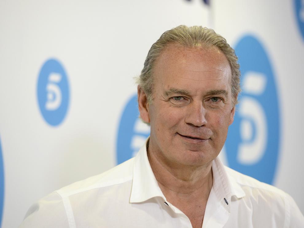 Bertín Osborne durante la presentación del programa en Telecinco.