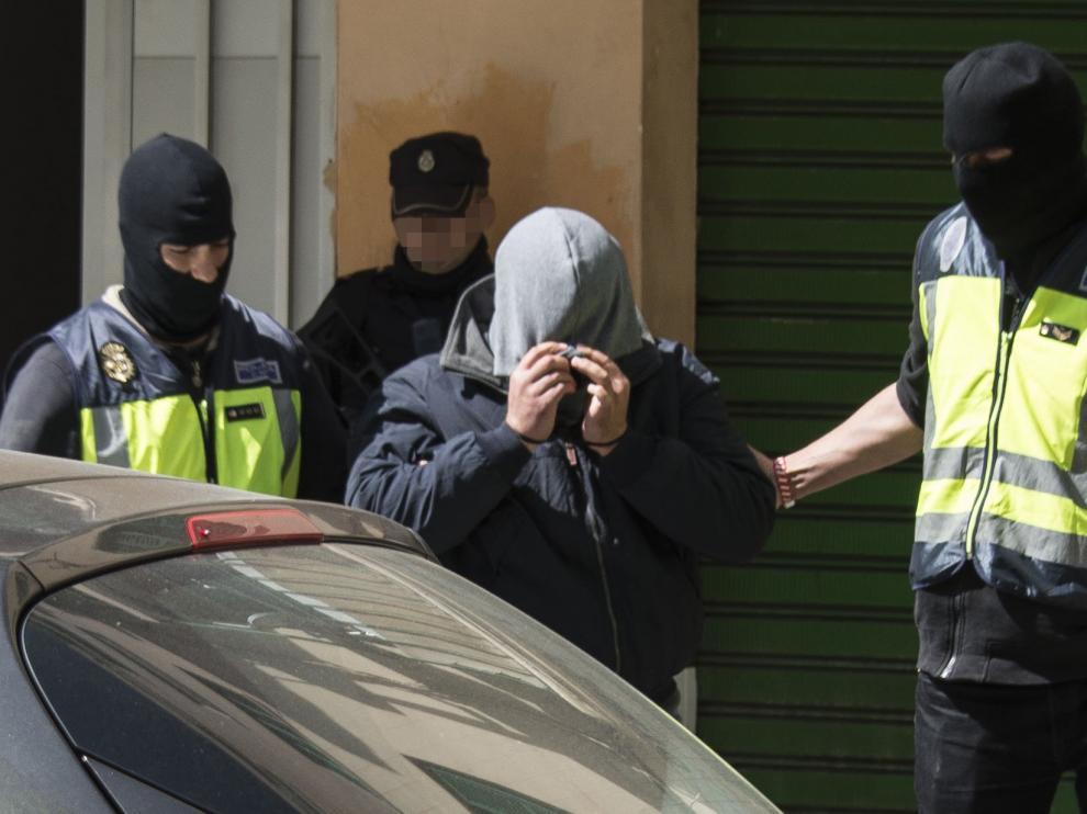 Detención del presunto yihadista en Palma.