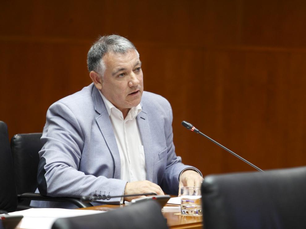 José Luis Juste, en la Comisión de Hacienda de las Cortes, el pasado viernes.