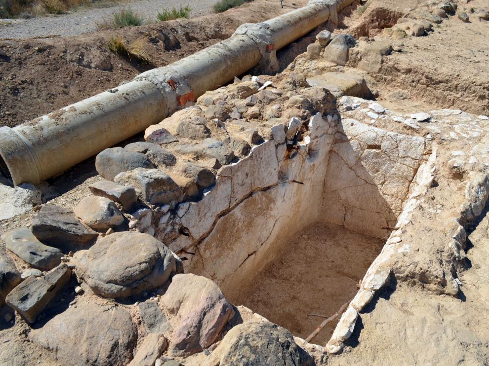Lagar celtibérico descubierto el verano de 2015 en el término de Tarazona.