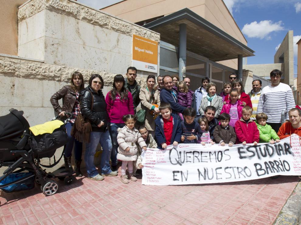 Las protestas por la falta de plazas en el colegio ya se han producido otros años en San Julian. En la imagen, en 2013.