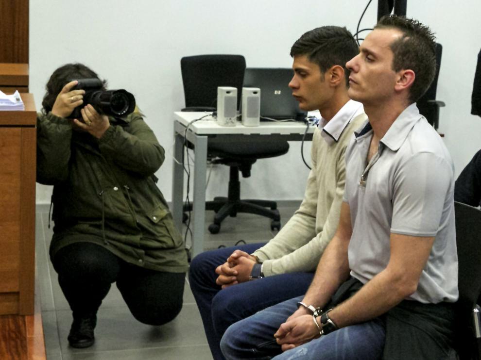 Noe Arteaga y Alberto Rus en una imagen de archivo de una de las sesiones del juicio.