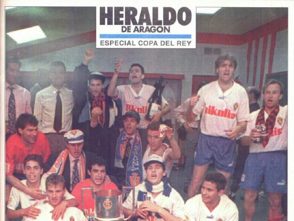 Portada del suplemento especial de Heraldo el día posterior a la consecución del campeonato de Copa ante el Celta en el Vicente Calderón, el 20 de abril de 1994.