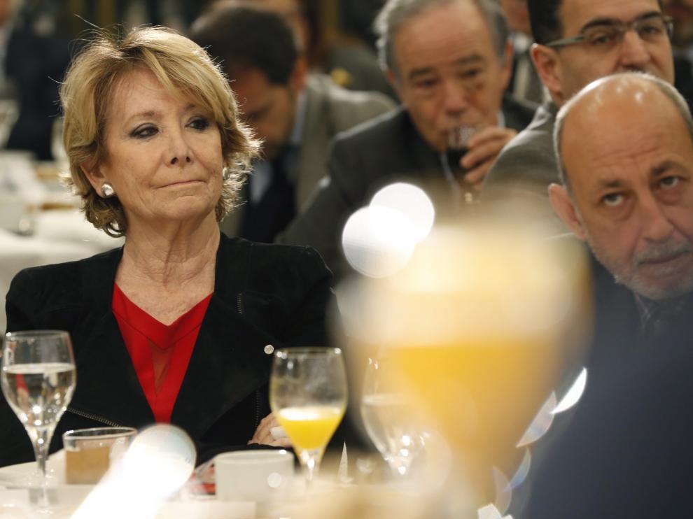 La portavoz del grupo popular en el Ayuntamiento de Madrid y exprepsidente del PP de Madrid, Esperanza Aguirre