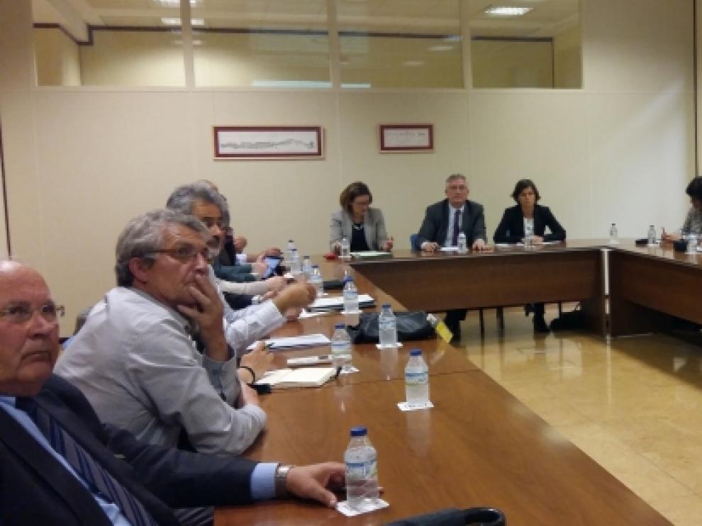 Reunión del Comité Institucional para abordar la descontaminación integral del lindano en el río Gállego.