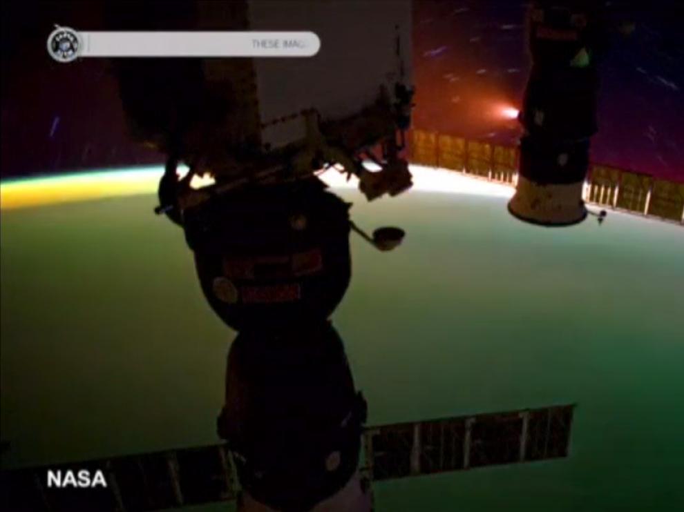 Imágenes de la aurora boreal vista desde el espacio en el vídeo grabado por la Nasa.