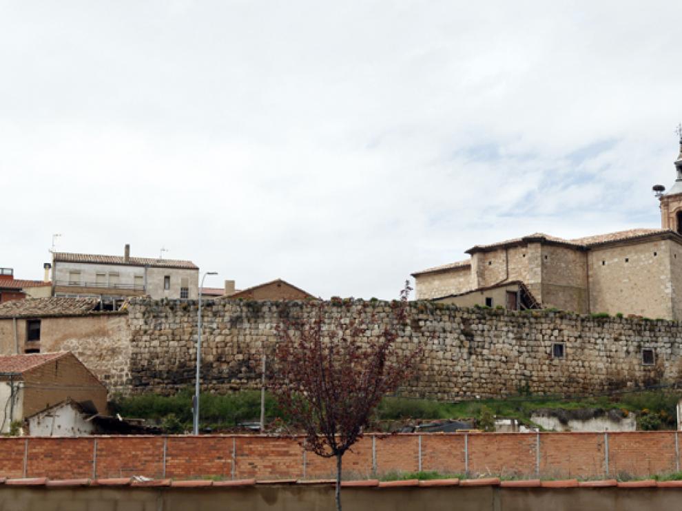 Imagen del casco histórico de Almazán, que concentra la mayor parte de los edificios de más de 40 años.