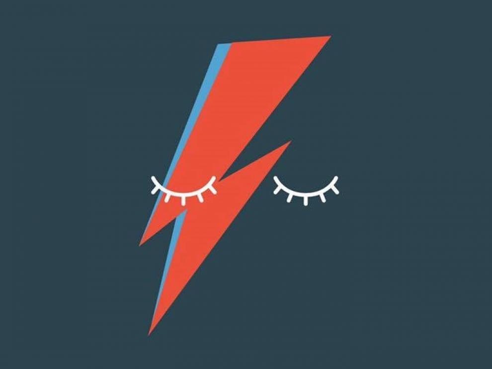 Cartel del concierto solidario en homenaje a David Bowie de este viernes en Huesca.