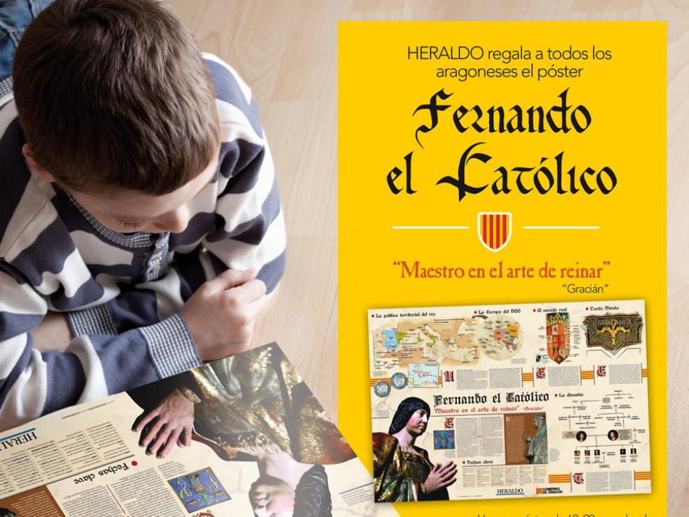 Póster Fernando el Católico que regala HERALDO el 23 de abril.