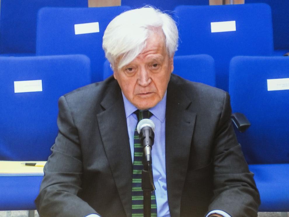 El conde de Fonato durante su declaración como testigo ante el tribunal de la Audiencia de Palma.