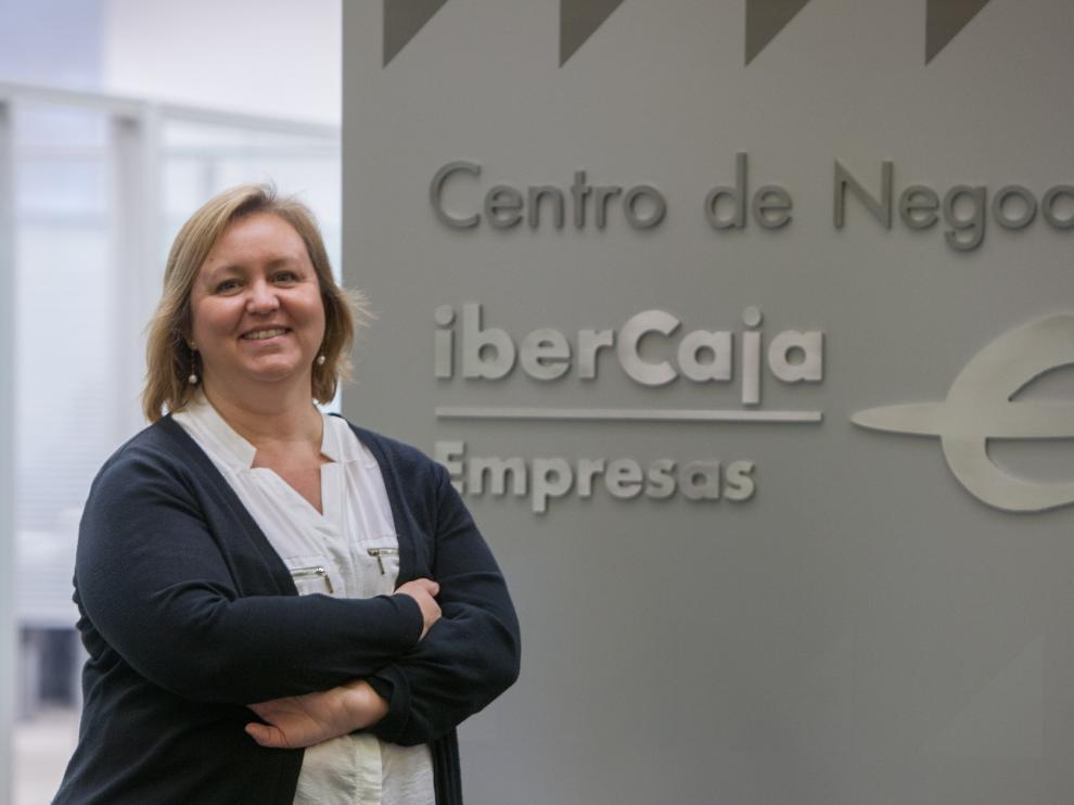 Leticia Alfaro, en el Centro de Negocios de Ibercaja.