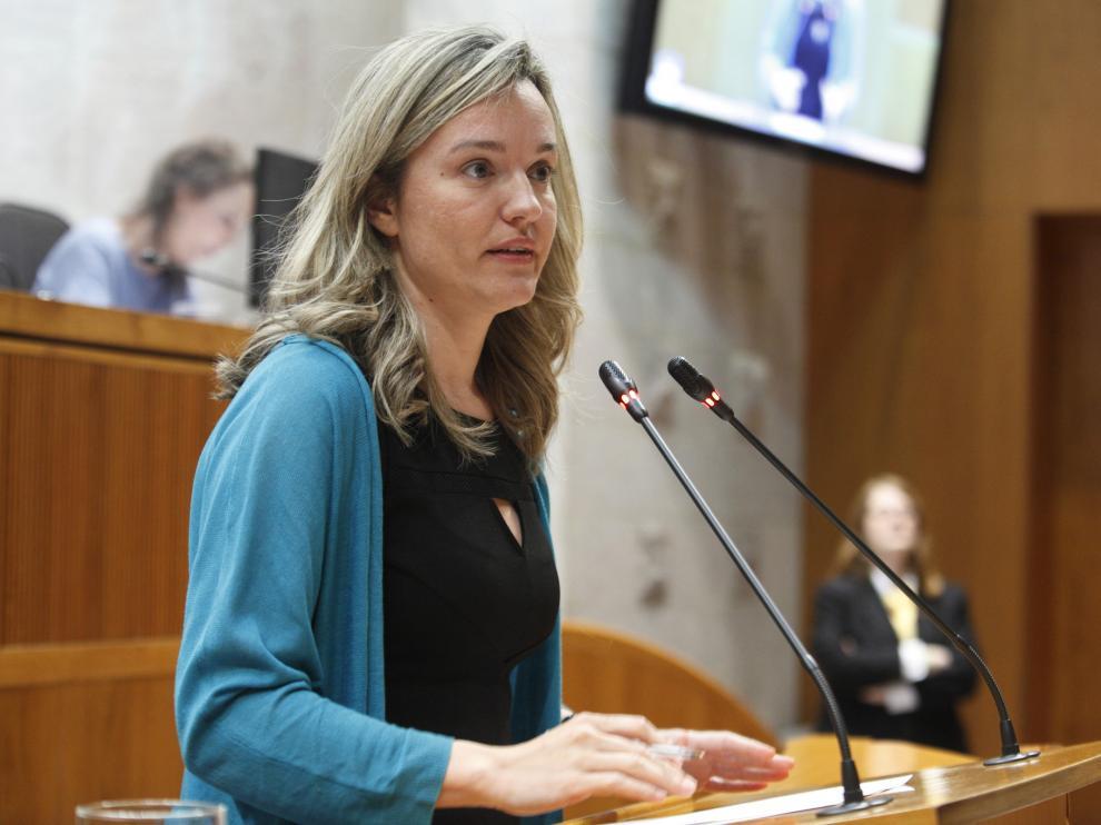 La consejera de Innovación, Investigación y Universidad del Gobierno de Aragón, Pilar Alegría, en una imagen de archivo.