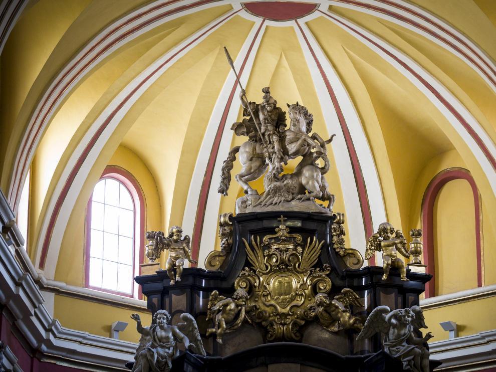 San Jorge, en la iglesia de San Cayetano.