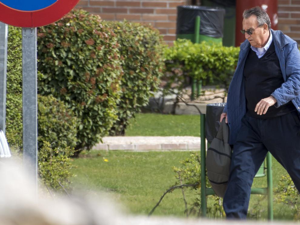 Carlos Fabra, a su salida de la cárcel este viernes.
