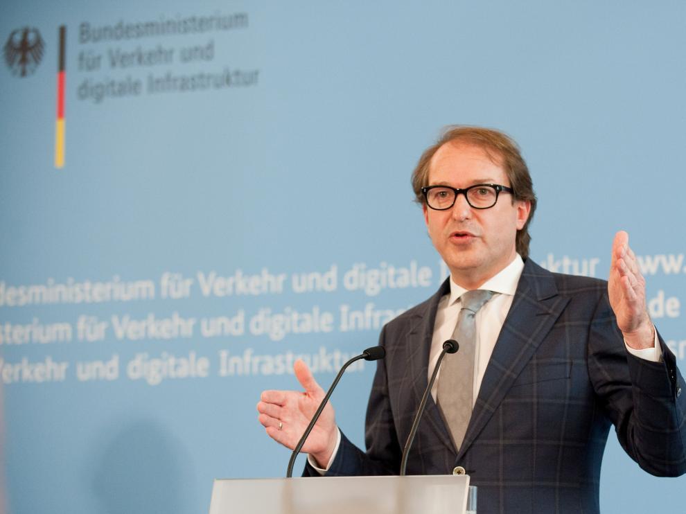 El ministro alemán de Transporte, Alexander Dobrindt