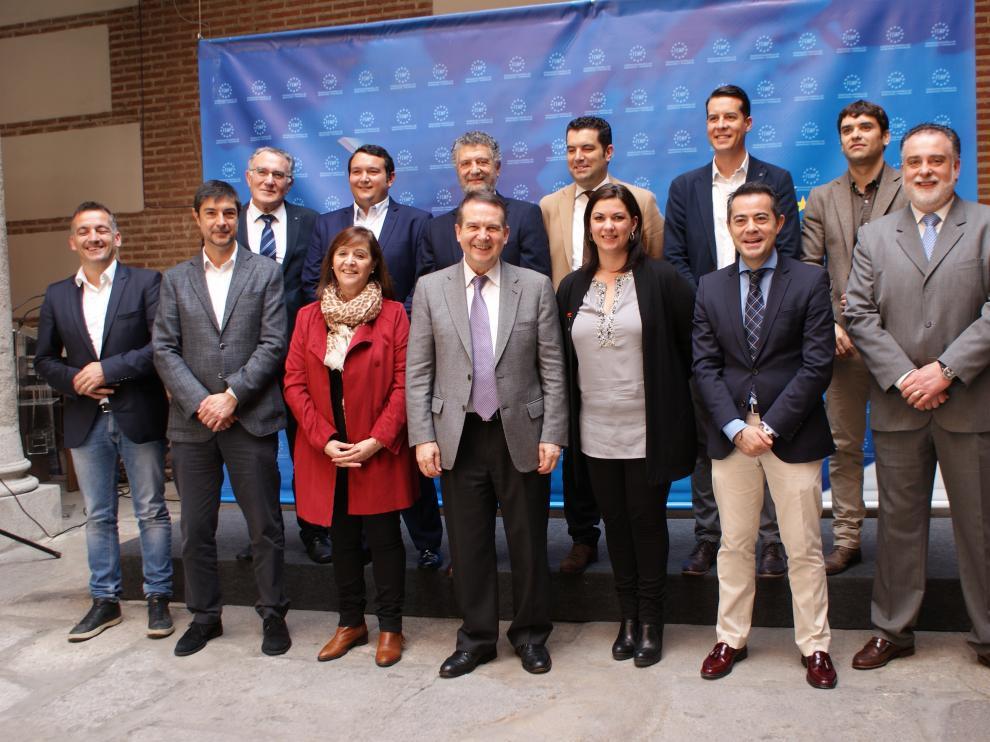 Imagen de la reunión de la FEMP, este jueves en Madrid.