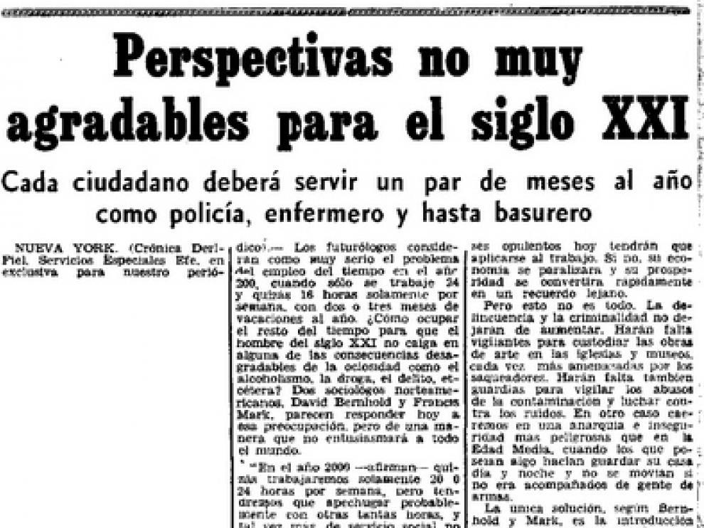 Página de Heraldo de Aragón en la que aparecía la información