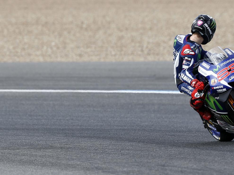 Jorge Lorenzo, en los libres de Jerez
