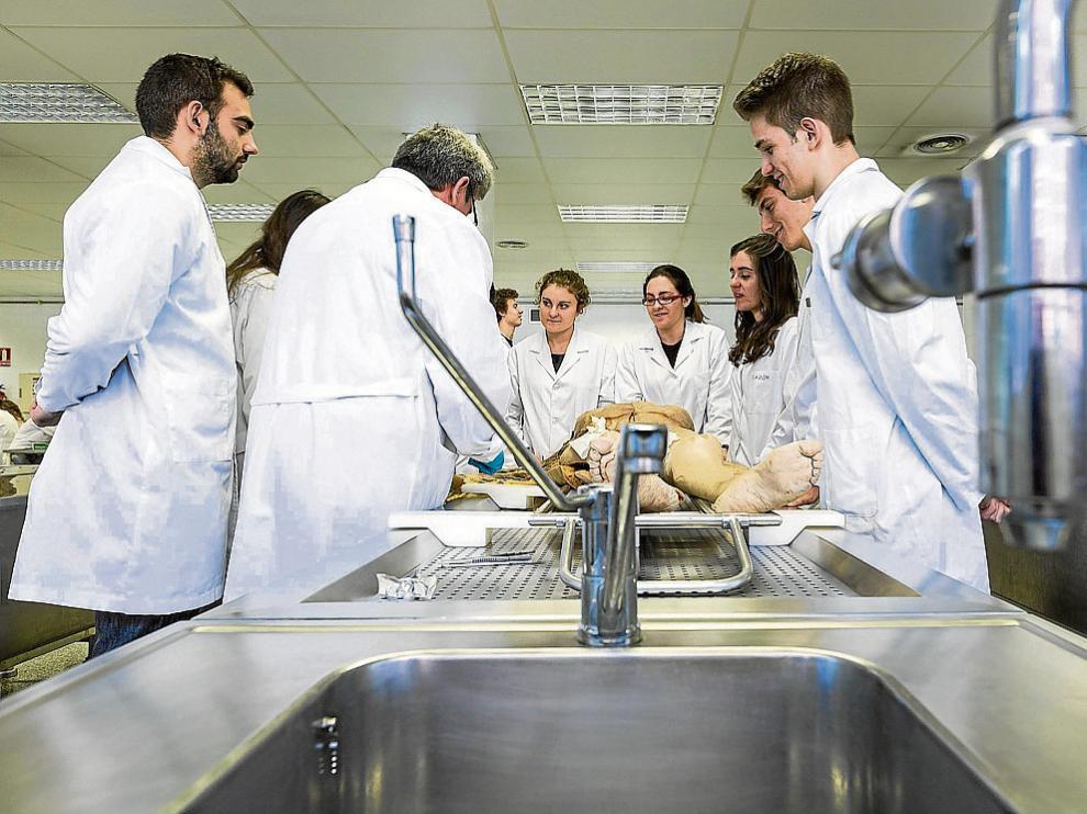 Los futuros médicos pueden practicar en cuerpos reales. Una de las cuestiones más importantes de la donación de cadáveres es que se ponen a disposición de los estudiantes de la Facultad de Medicina (los primeros grados) para que hagan sus prácticas.