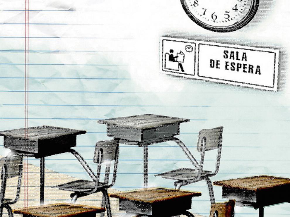 La comunidad escolar aragonesa, a la espera