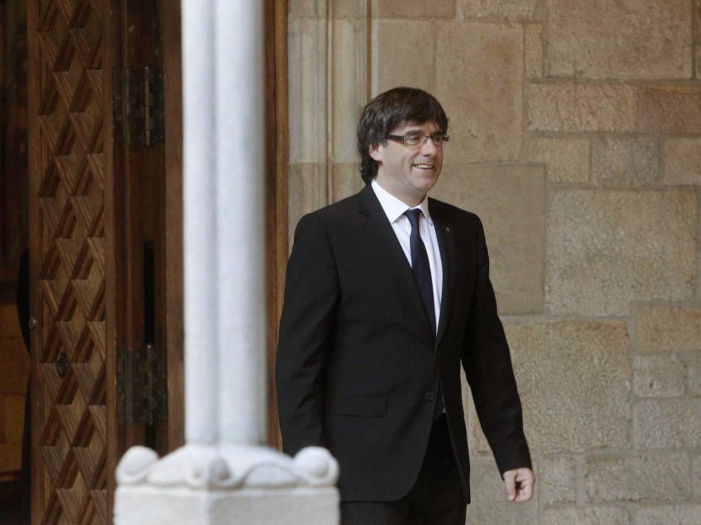 Puigdemont, el pasado 23 de abril.