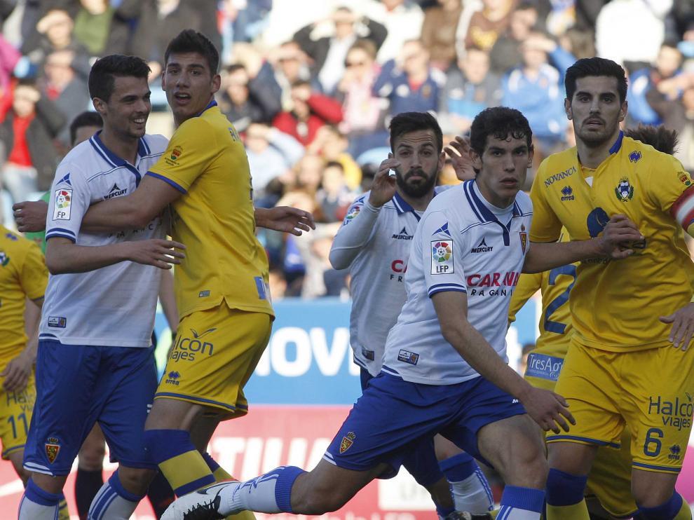 Jesús Vallejo, durante el partido contra el Alcorcón