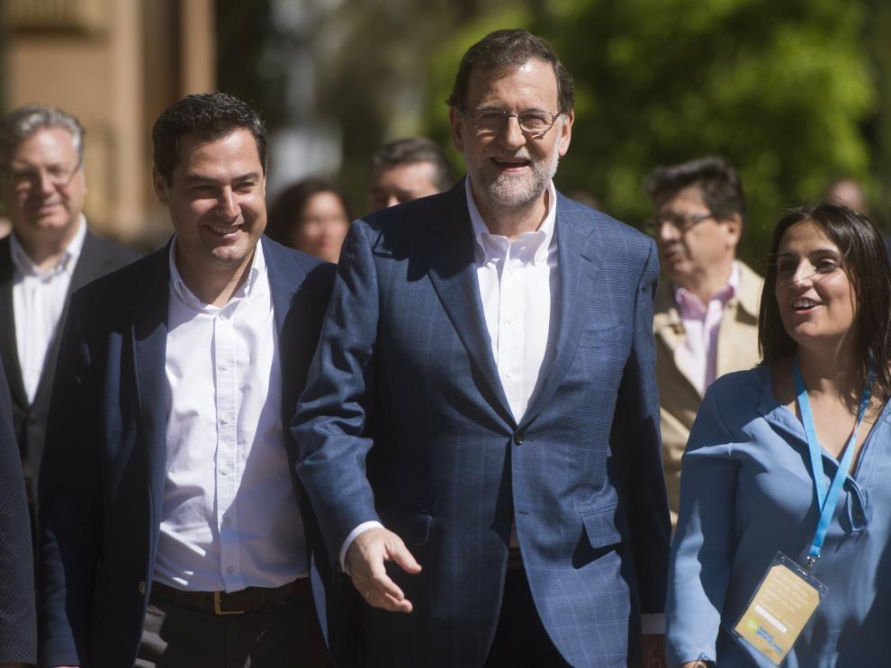 El presidente del PP y del Gobierno en funciones, Mariano Rajoy, hoy en Córdoba