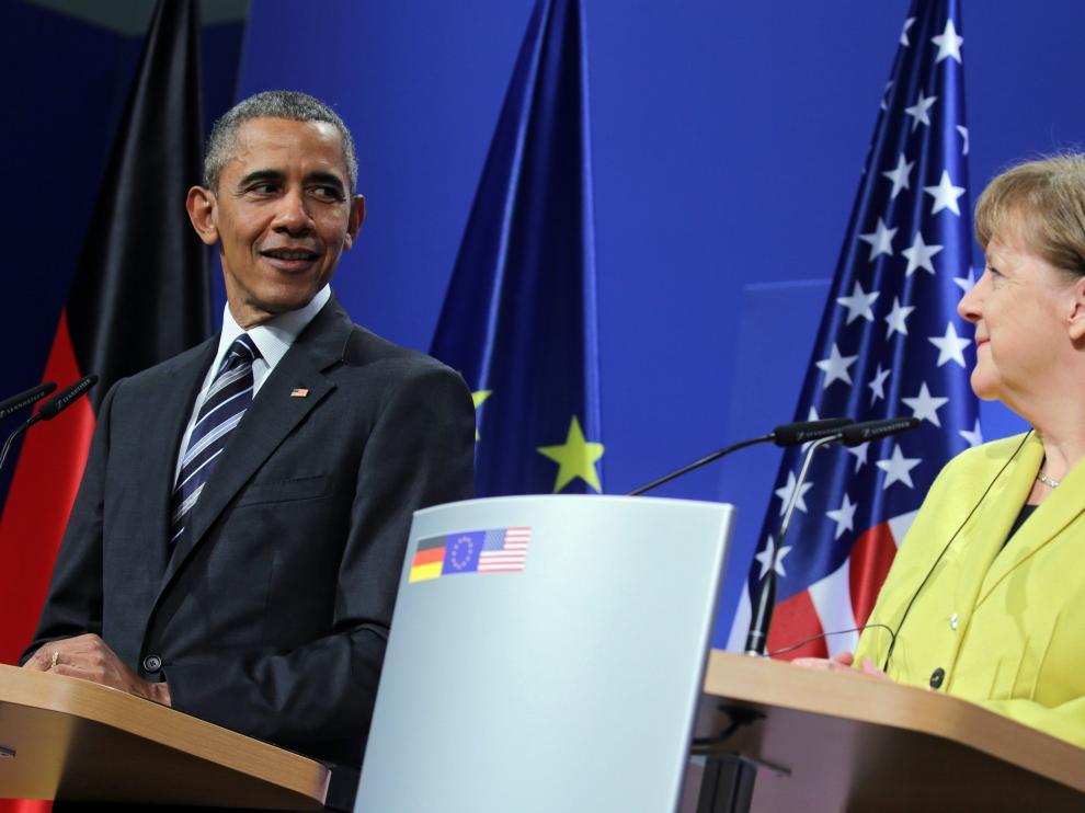 Obama se reúne con Merkel en Hannover