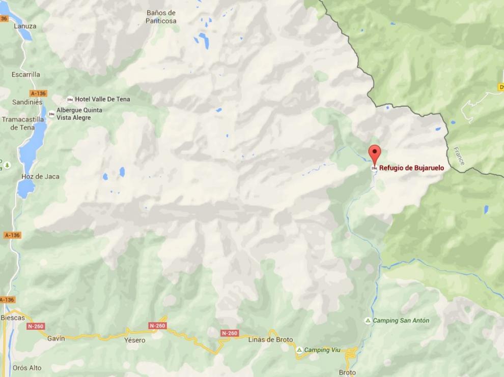 El viernes durmió en el refugio de Bujaruelo, de donde salió la mañana del día 23 para hacer un recorrido por el valle del Ar
