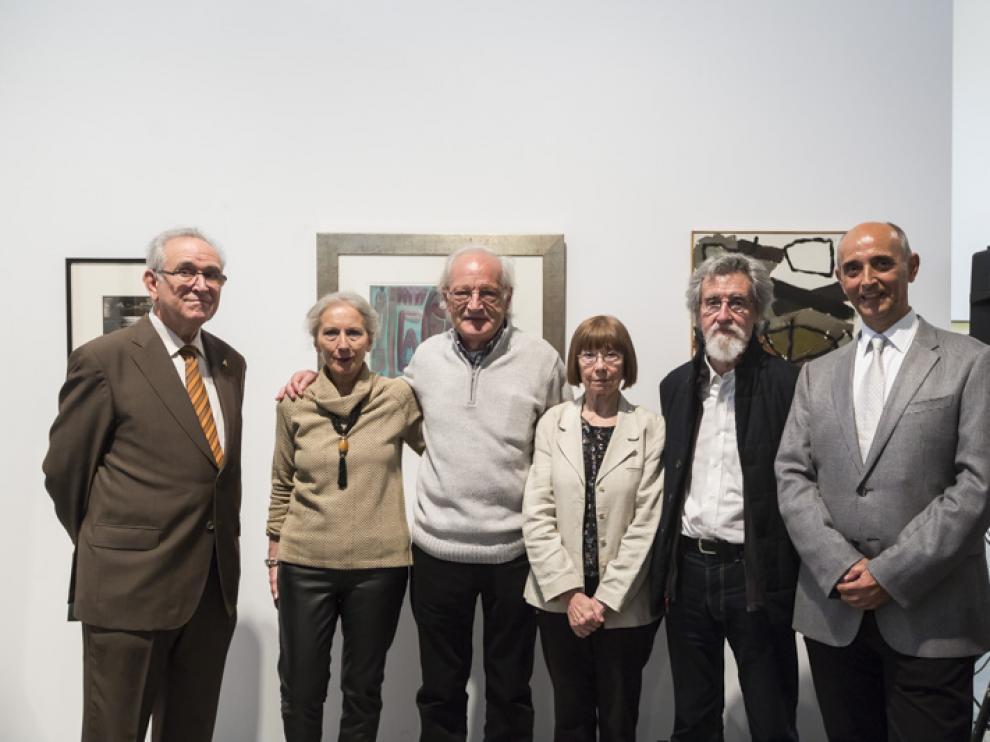 Miguel Casasús, Teresa Ramón, Natalio Bayo, Julia Dorado, Rafael Navarro y Antonio Rodés, en el Pablo Serrano.