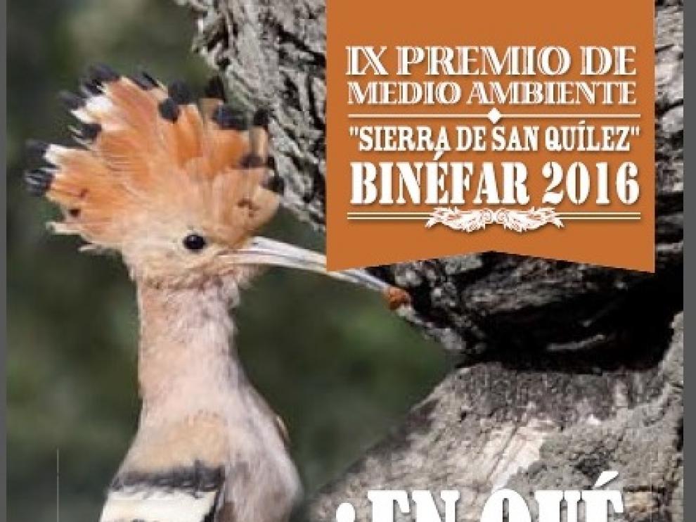 Cartel del IX Premio de Medio Ambiente 'Sierra de San Quílez'.