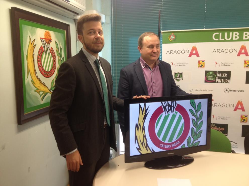 El presidente Antonio Orús y del vicepresidente Alberto Gracia presentando la campaña.