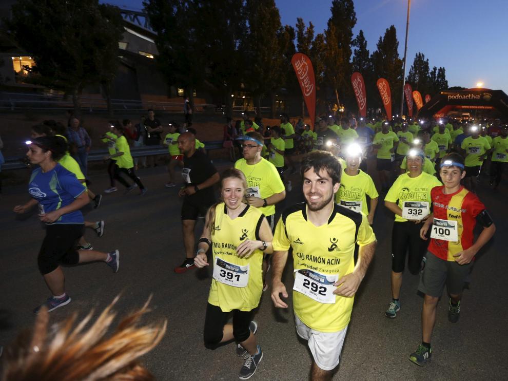 La carrera nocturna de Huesca, en la edición de 2015.