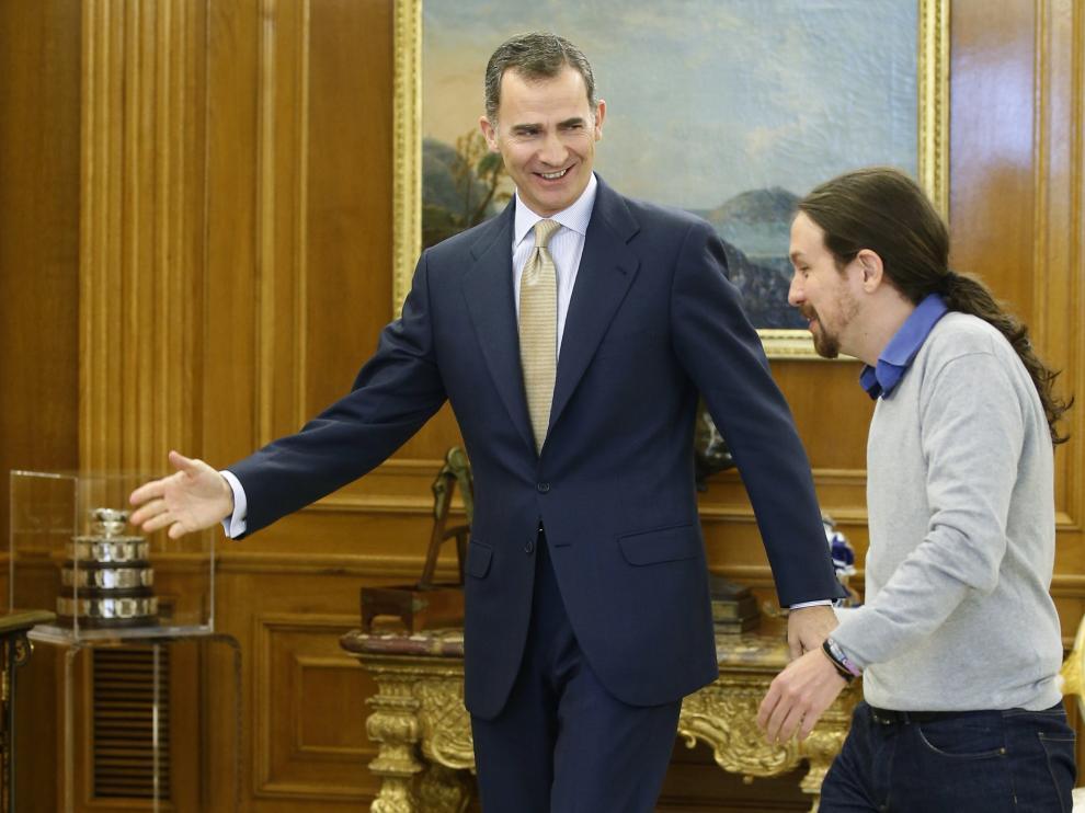 El Rey recibe a Pablo Iglesias.
