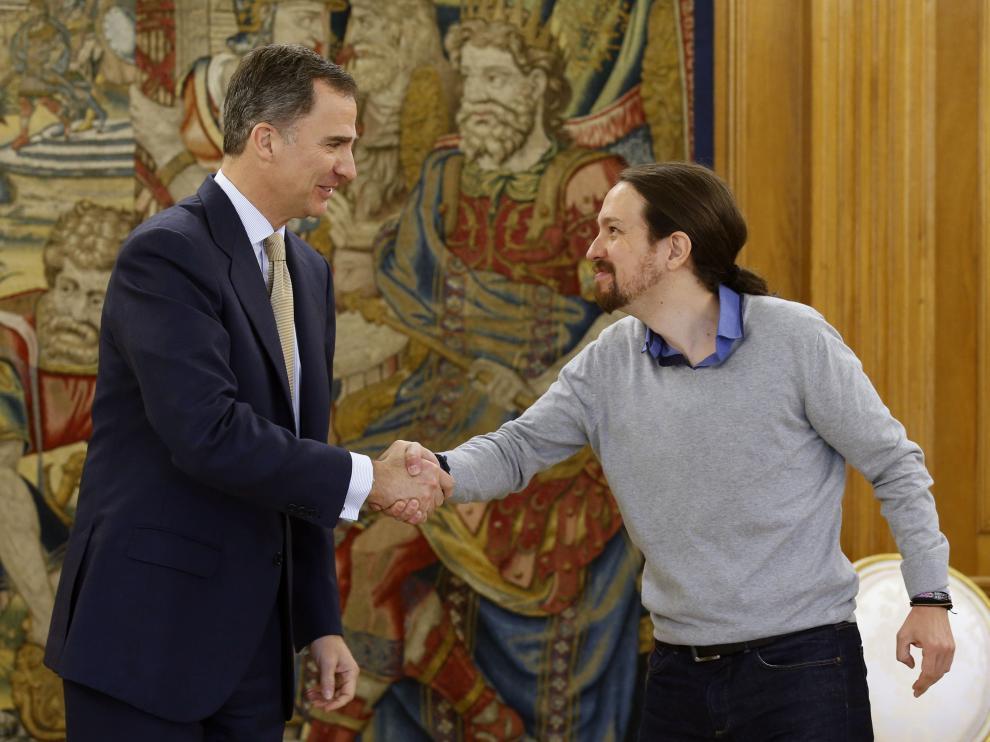 Pablo Iglesias se reúne con el rey Felipe VI