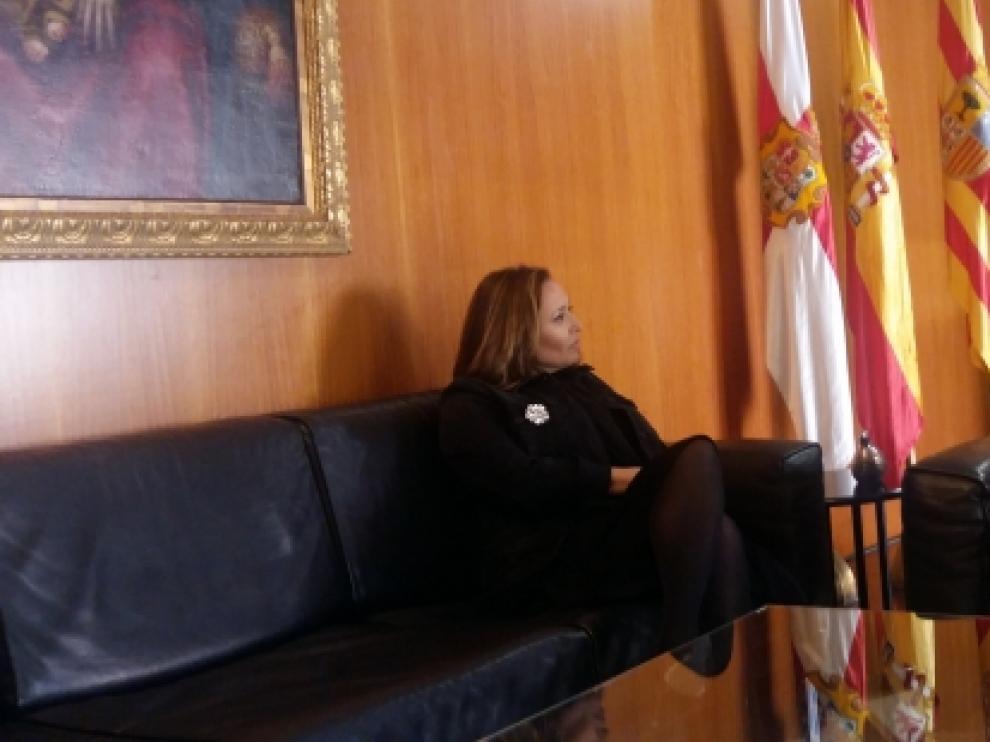 Reunión entre la consejera de Educación, Mayte Pérez, y el presidente de la DPH, Miguel Gracia.