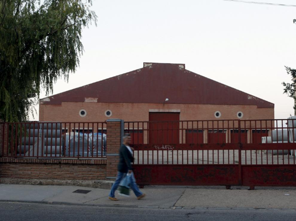 Parcela del Parque de Maquinaria de la Diputación de Soria.