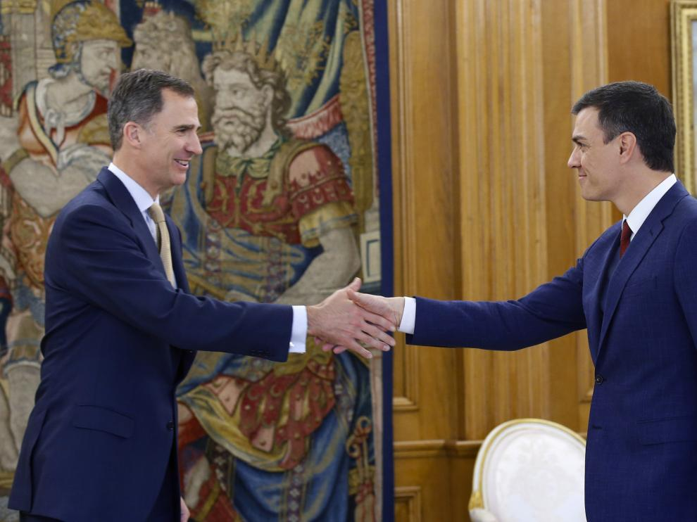 Pedro Sánchez con Felipe VI